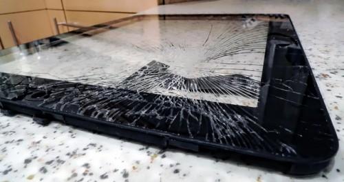 An impressively broken iPad